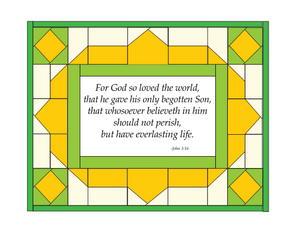 John 3:16 Fabric Panel + Free Mini Quilt Pattern