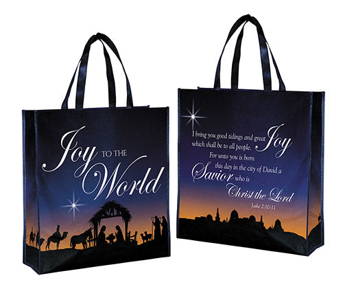 Joy To The World Laminated Tote Bag