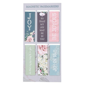 That My Joy May Be In You Magnetic Bookmarks Set