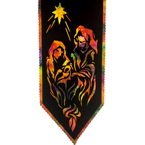 Our Savior Is Born Laser Cut Christmas Nativity Fusible Wall Hanging Panel