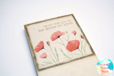 Let All You Do Be Done In Love 1 Corinthians 16:14 Magnetic Notepad