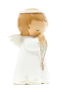 Pearlized Guardian Angel Statue