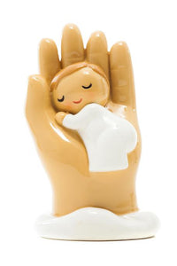 Hand of God Hold Me Baby Statue