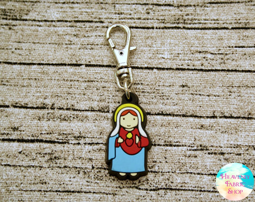 Immaculate Heart of Mary Rubber Charm