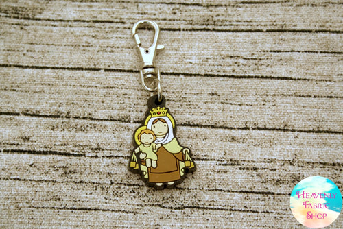 Our Lady of Mount Carmel Rubber Charm