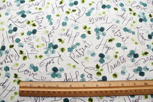 Love Never Fails Tossed Words Cotton Fabric