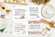 "Set of 9 - 3"" square Inspirational Saintly Quote Stickers Set A"