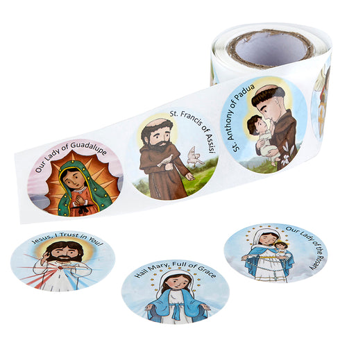 Mini Saints 100 count Sticker Roll