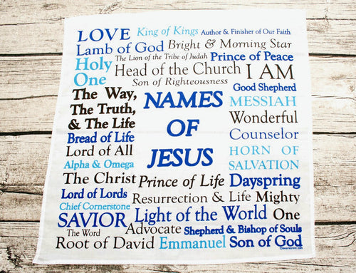 Names of Jesus Prayer Cloth Cotton Mini Fabric Panel