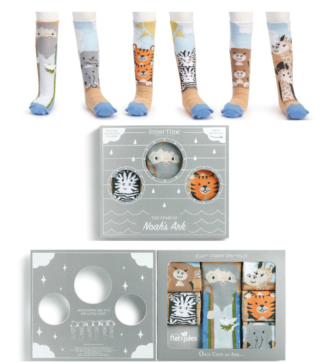 Noah's Ark Knee Sock Gift Set