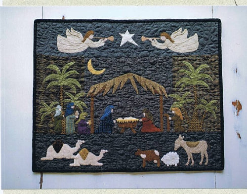 Our Savior's Birth Wool Applique Wall Quilt Pattern