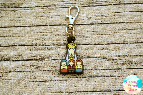 Our Lady of Fatima Rubber Charm