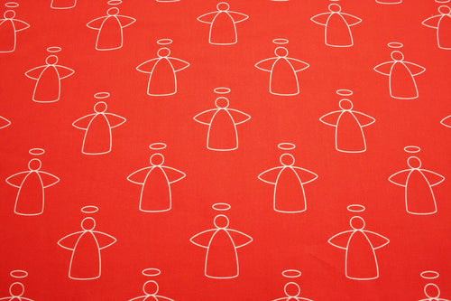 Scandinavian Christmas Angel Cotton Fabric