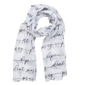 Pray, Hope and Don't Worry Prayer Scarf