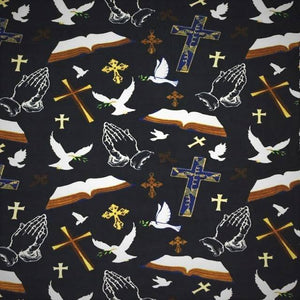 Christian Prayer Bible Anti-Pill Fleece Fabric