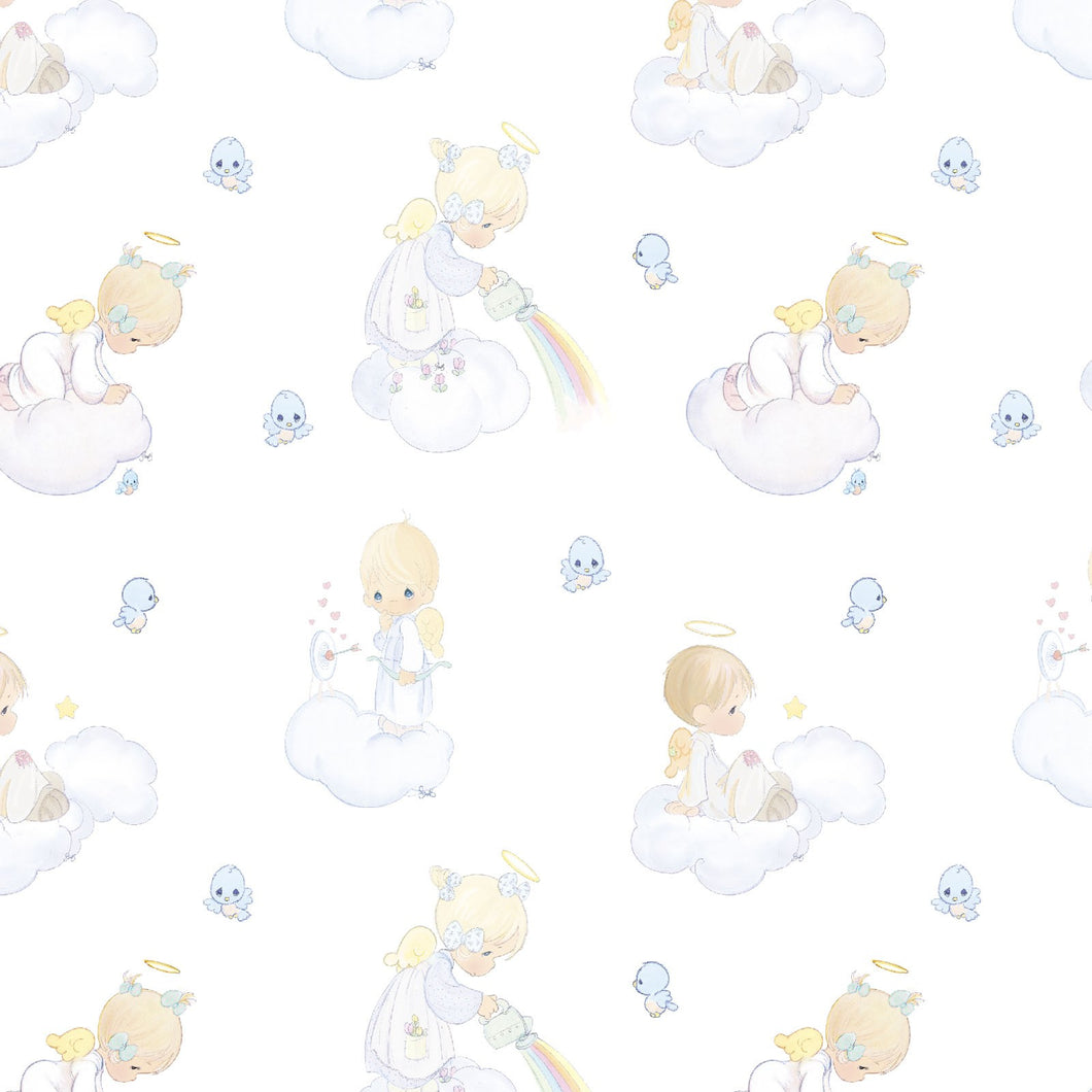 Precious Moments Angels Cotton Fabric