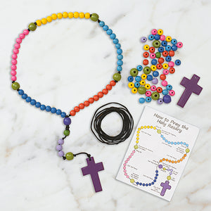 Wooden Bead Rosary Craft Kit