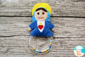 Mother Mary Pray For Us Rattle Toy