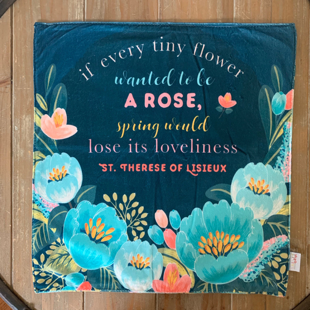 Saint Therese Little Flower Ultra Soft Lovey Blanket