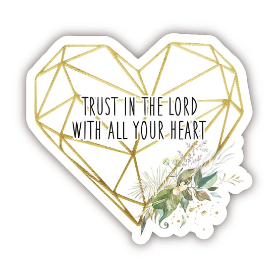 Trust In The Lord Heart Decal Sticker