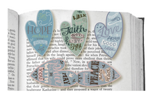 Magnetic Heart Faith Bookmarks Set