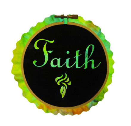 Laser Cut Faith Fusible Fabric Hoop Kit