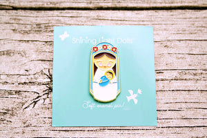 Shining Light Blessed Mother Virgin Mary Soft Enamel Pin