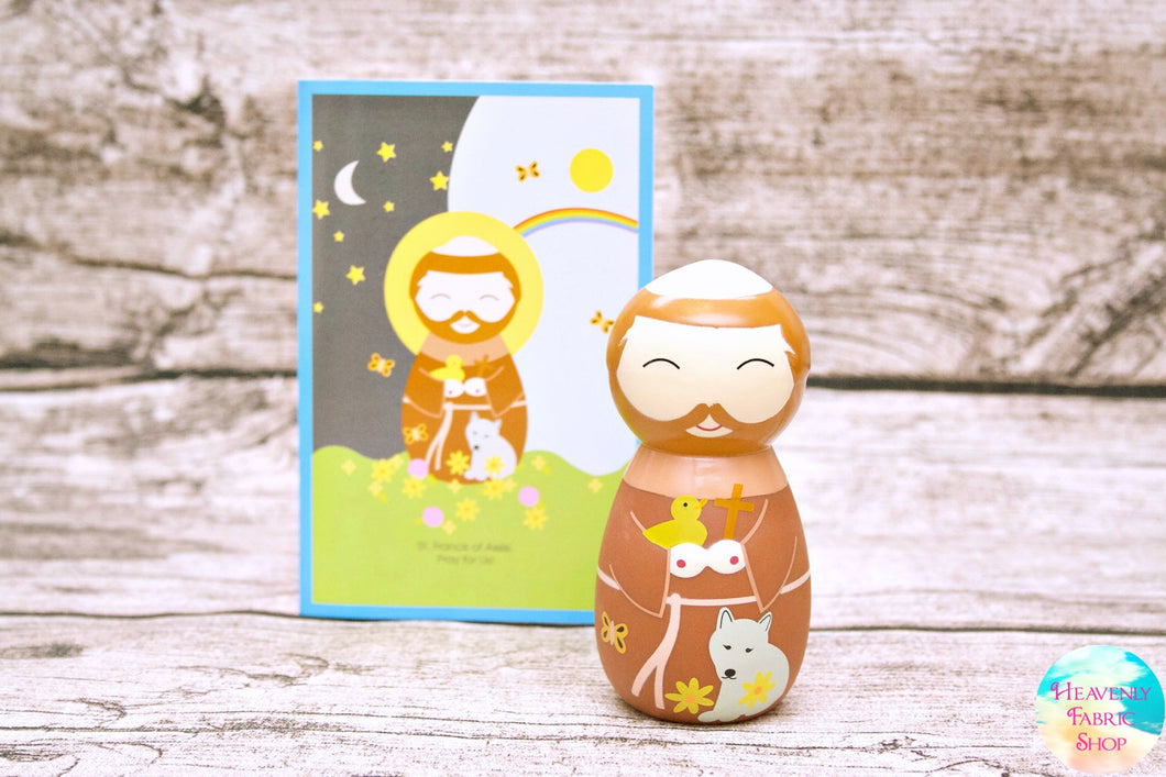Shining Light Saint Francis of Assisi Doll