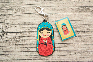 Shining Light Our Lady of Guadalupe Jumbo Rubber Charm
