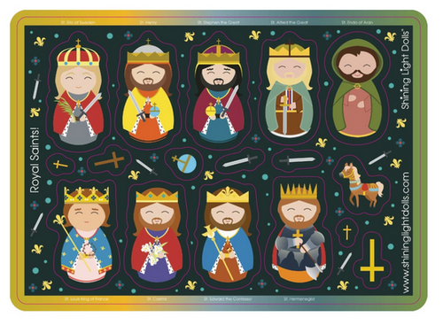 Shining Light Royal Saints Kings and Princes Sticker Sheet