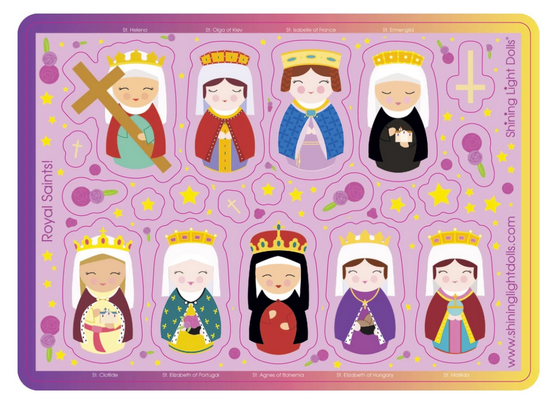 Shining Light Royal Saints Queens and Princesses Sticker Sheet