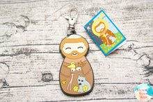 Shining Light Saint Francis of Assisi Jumbo Rubber Charm