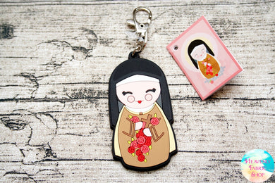 Shining Light Saint Therese of Lisieux Jumbo Rubber Charm