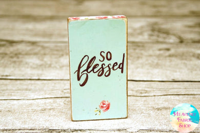 So Blessed Wood Block Magnet