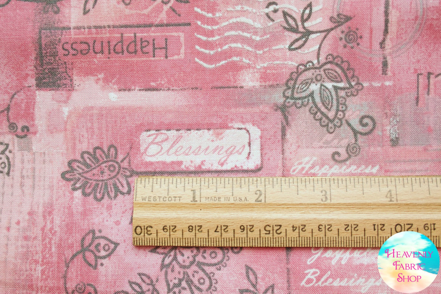 Soulful Shades of Pink Inspirational Butterflies Cotton Fabric