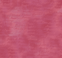 Soulful Shades of Pink Inspirational Words Pink Cotton Fabric