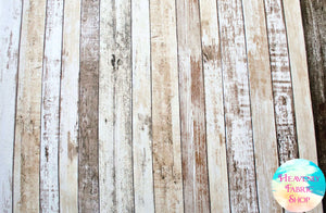 Weathered Wood Shiplap Wooden Plank Cotton Fabric