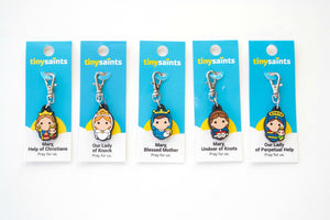 Tiny Saints Our Lady Marian Rubber Charms