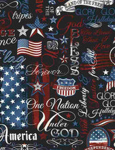 Patriotic Words of Faith Cotton Fabric