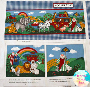 Noah's Ark Soft Book Cotton Fabric Panel