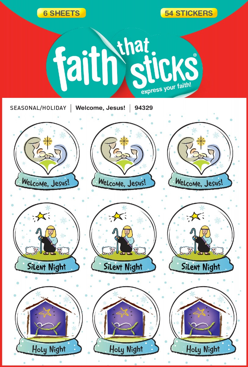 Welcome Jesus Stickers 6 Sheets Set