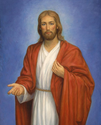 Jesus Large Cotton Fabric Panel