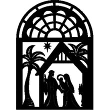 Laser Cut Nativity Silhouette Fusible Fabric Panel