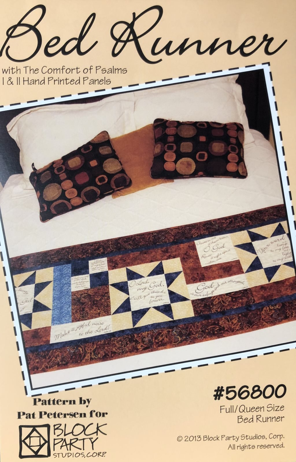 Psalms Bed Runner Quilt Pattern & Fabric Duo Panel Kit