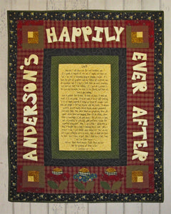 Happily Ever After Fabric Panel + Personalized Wall Quilt Pattern Kit