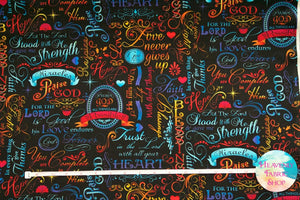 Faith Brite Words of Faith Cotton Fabric
