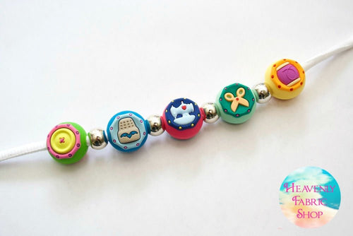 Silicone Sewing Theme Bead Charms Set