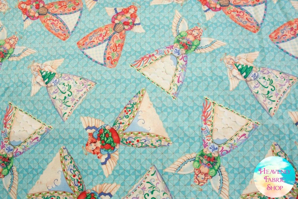 Angel Toss Cotton Fabric