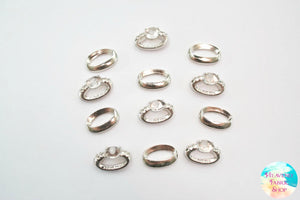Wedding Rings Flat Back Charms Set