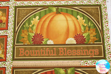 Harvest Greetings Blessings Cotton Fabric Panel